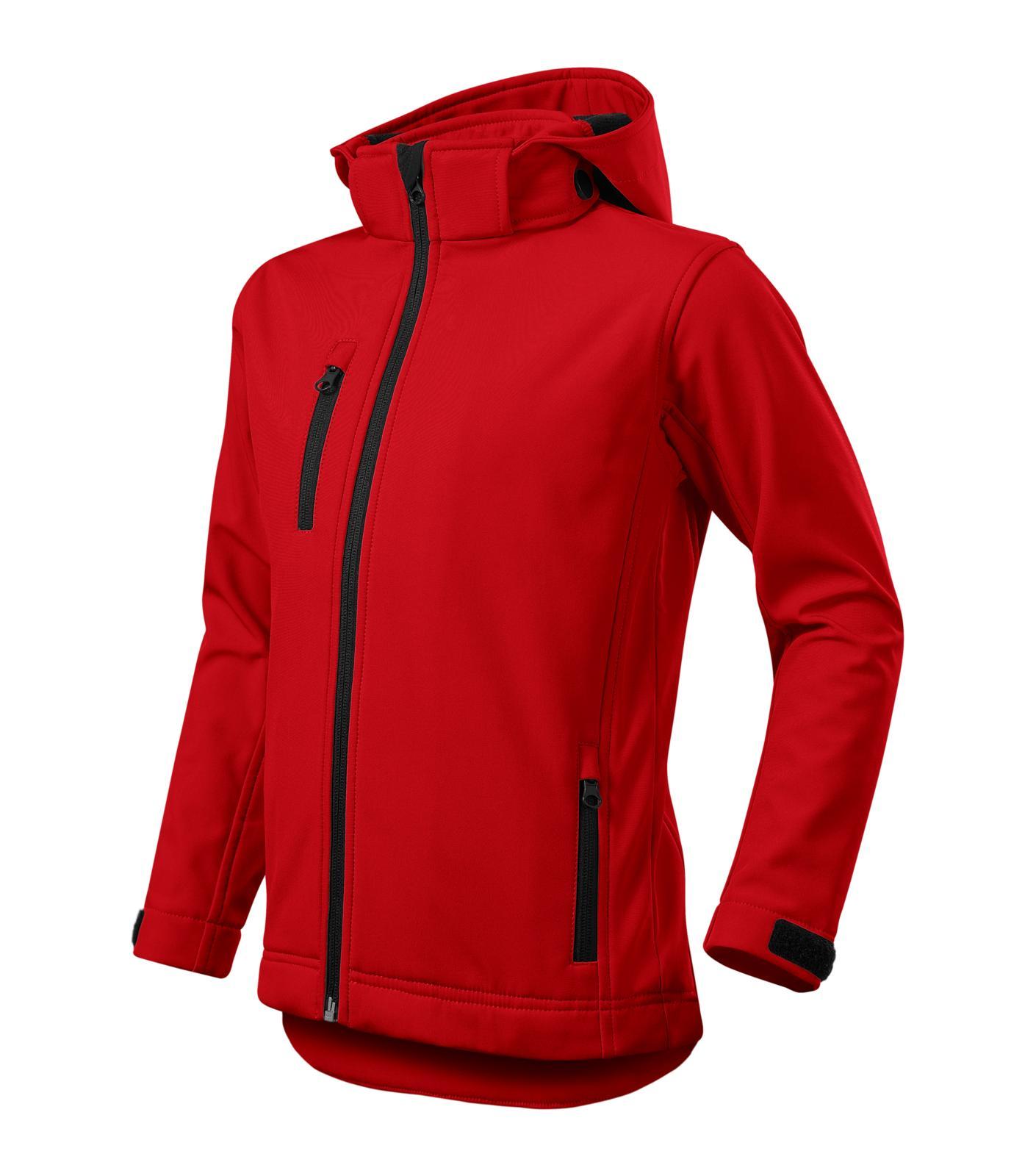 Performance - Softshellová bunda dětská červená
