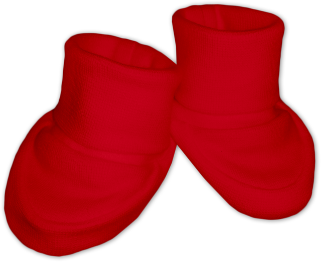 Kojenecké bačkůrky červené