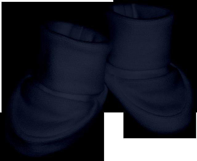 Kojenecké bačkůrky modré inkoustové