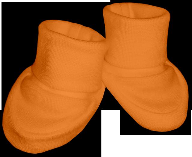 Kojenecké bačkůrky oranžové světlé
