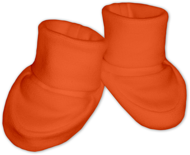 Kojenecké bačkůrky oranžové tmavé