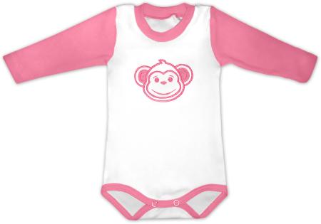 Kojenecké body s výšivkou opičky
