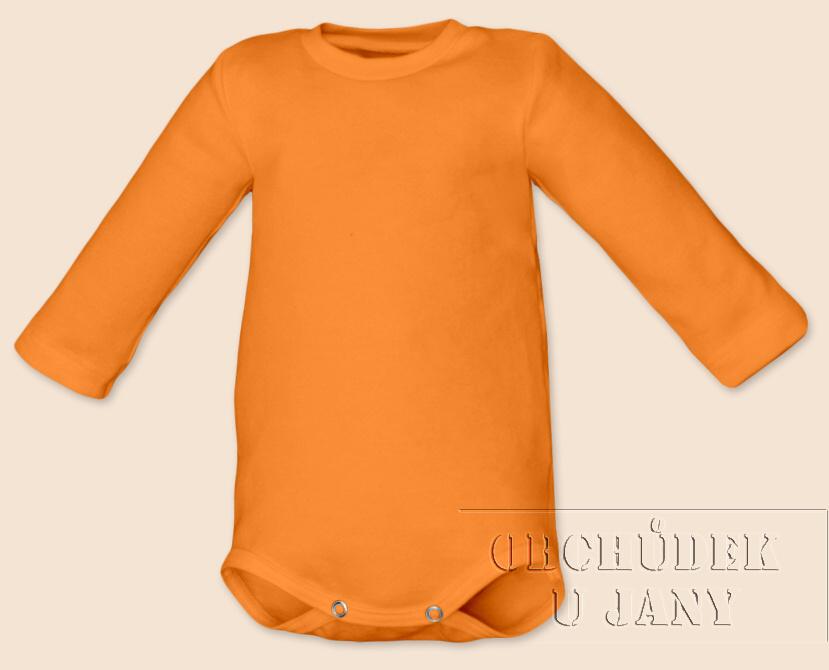 Kojenecké body s dlouhým rukávem oranžové světlé