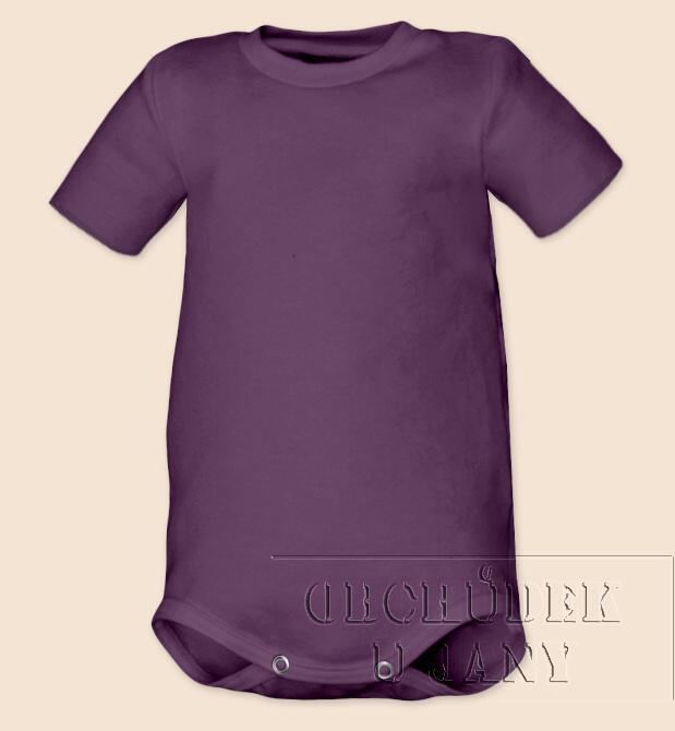Kojenecké body s krátkým rukáv fialové