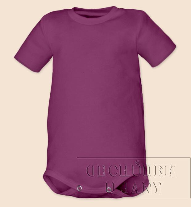 Kojenecké body s krátkým rukáv fialovo-růžové