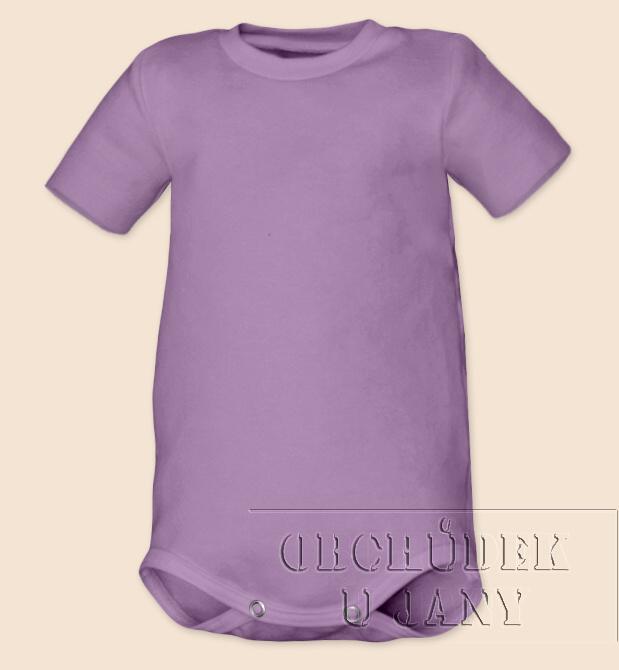 Kojenecké body s krátkým rukáv fialové šeříkové