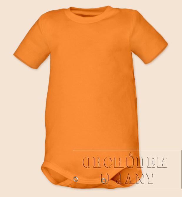 Kojenecké body s krátkým rukáv oranžové světlé