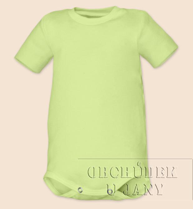 Kojenecké body s krátkým rukáv zelenkavé