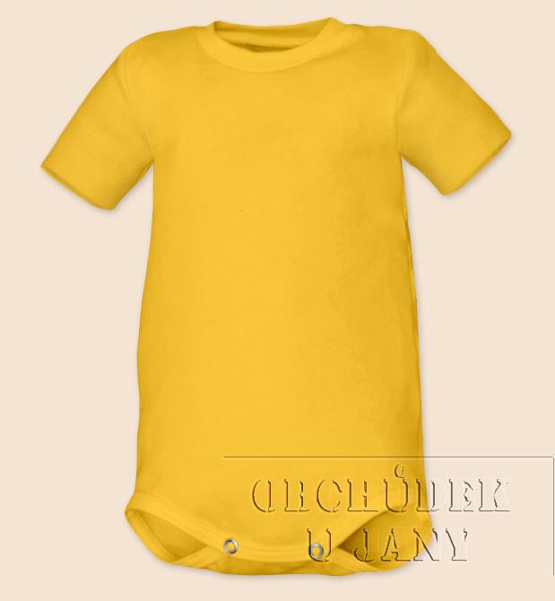 Kojenecké body s krátkým rukáv žluté