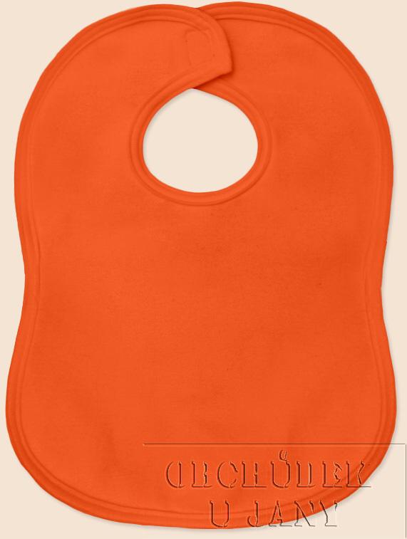 Bryndák na suchý zip oranžový tmavý