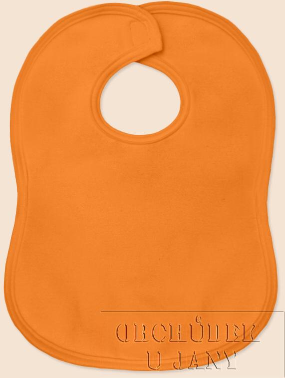 Bryndák na suchý zip oranžový světlý