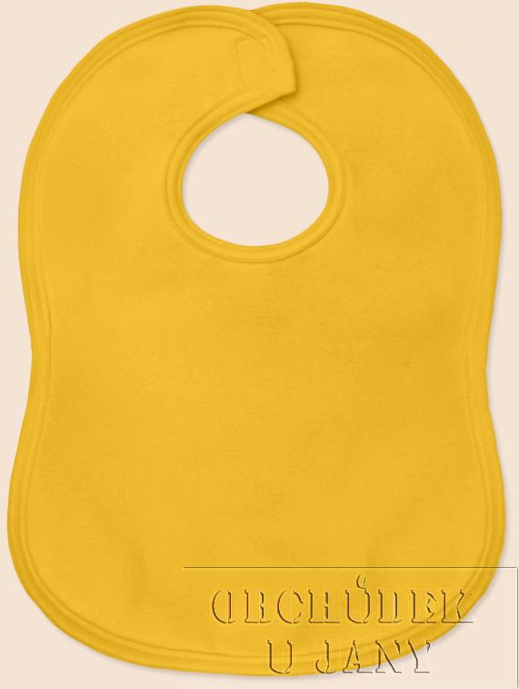 Bryndák na suchý zip žlutý