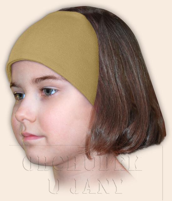 Dívčí čelenka úpletová béžová