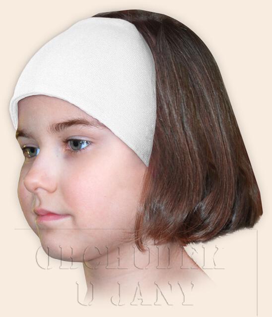 Dívčí čelenka úpletová bílá