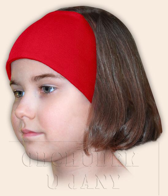 Dívčí čelenka úpletová červená