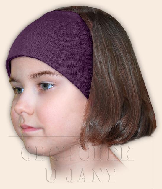 Dívčí čelenka úpletová fialová