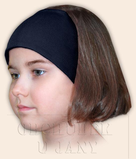 Dívčí čelenka úpletová modrá inkoustová