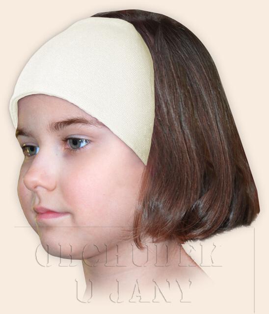 Dívčí čelenka úpletová žlutá máslové