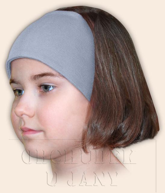 Dívčí čelenka úpletová modrá pomněnková