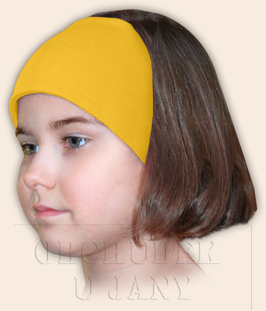 Dívčí čelenka úpletová žlutá