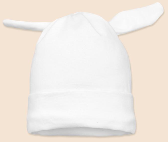 Čepice uzel bílá