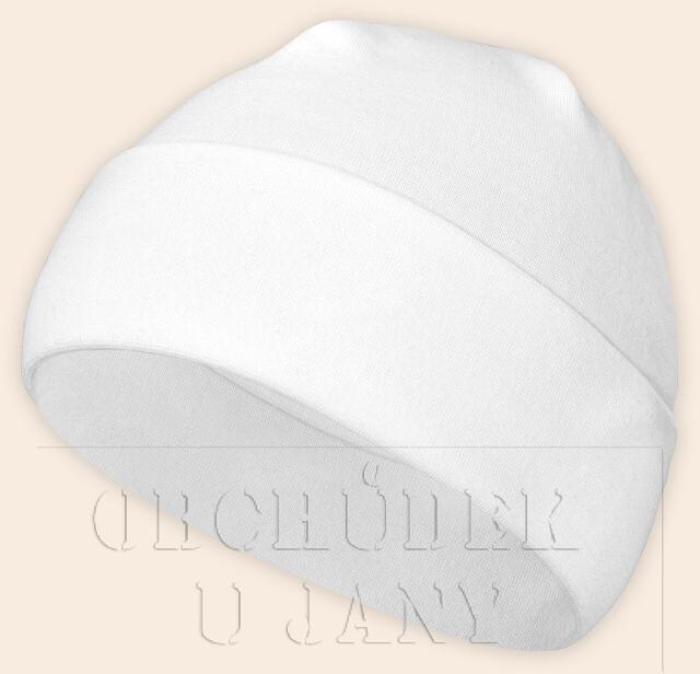 Čepice jarní - podzimní bílá