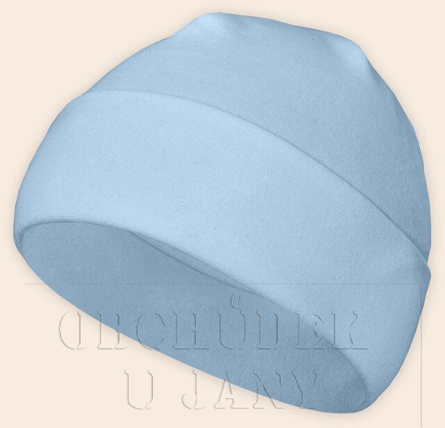 Čepice jarní - podzimní modrá světlá