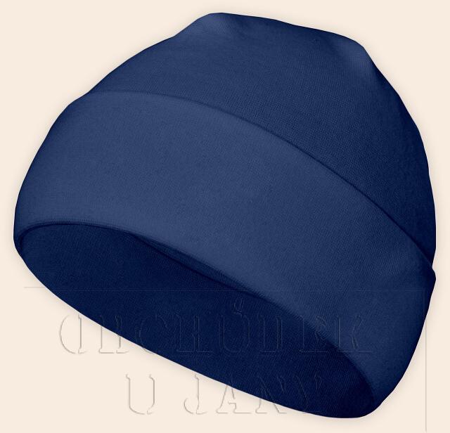 Čepice jarní - podzimní modrá
