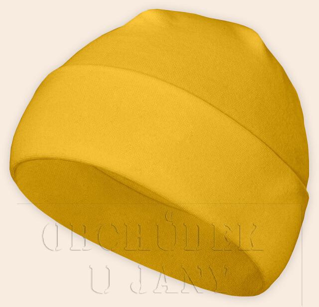 Čepice jarní - podzimní žlutá