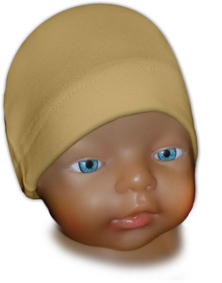 Čepice kojenecká béžová