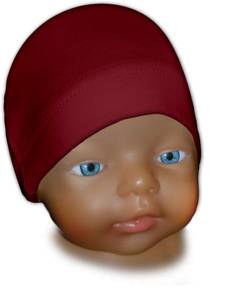 Čepice kojenecká bordó