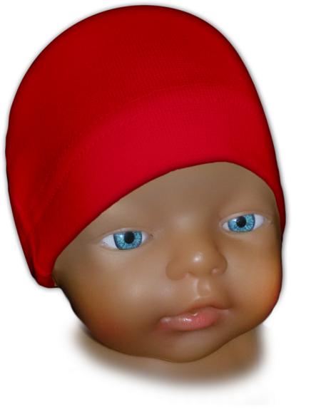 Čepice kojenecká červená