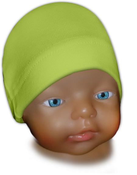 Čepice kojenecká zelená hrášková