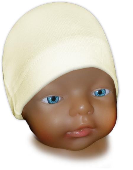 Čepice kojenecká žlutá máslová
