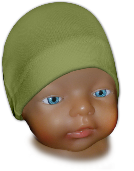 Čepice kojenecká zelená oliva