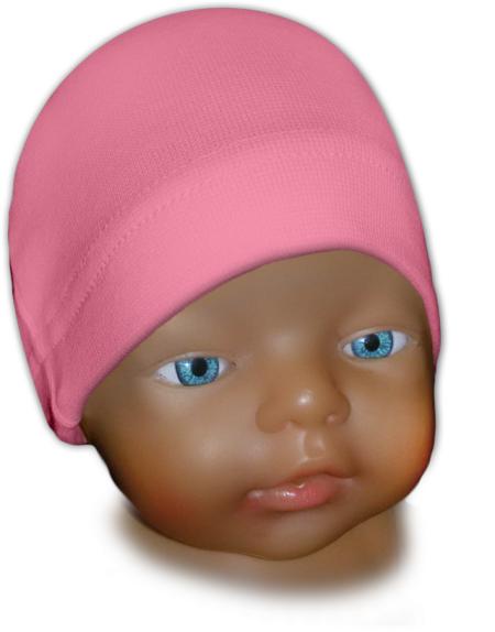 Čepice kojenecká růžová