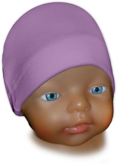 Čepice kojenecká fialová šeříková