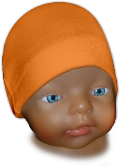 Čepice kojenecká oranžová světlá