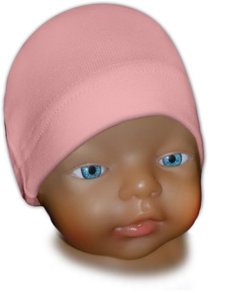 Čepice kojenecká růžová světlá