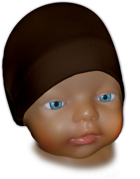 Čepice kojenecká hnědá