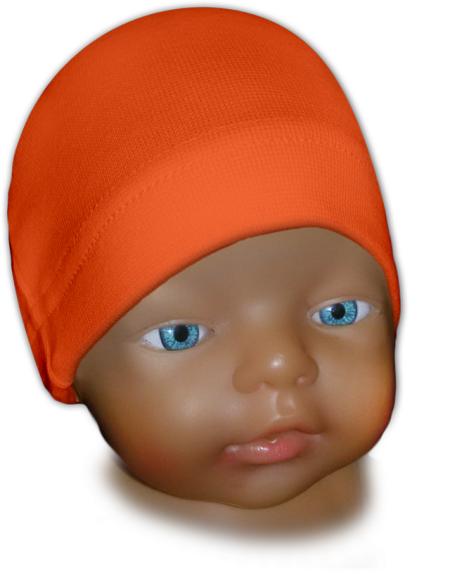 Čepice kojenecká oranžová tmavá