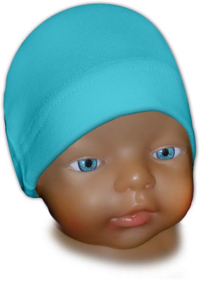 Čepice kojenecká modrá tyrkysová