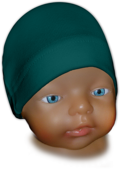 Čepice kojenecká zelenomodrá