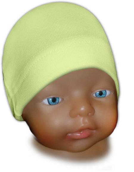 Čepice kojenecká zelenkavá