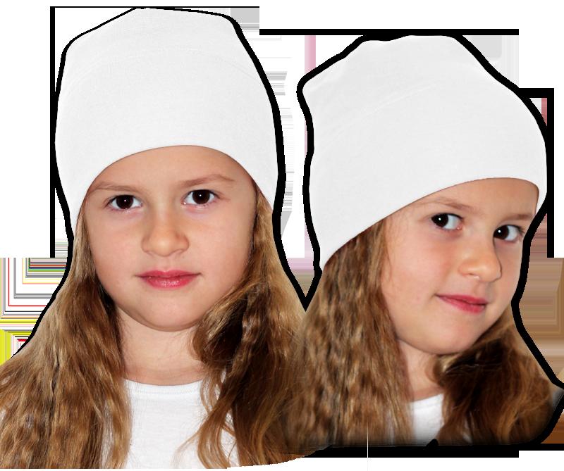Čepice bílá