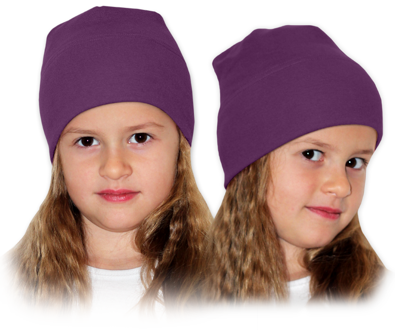 Čepice fialová