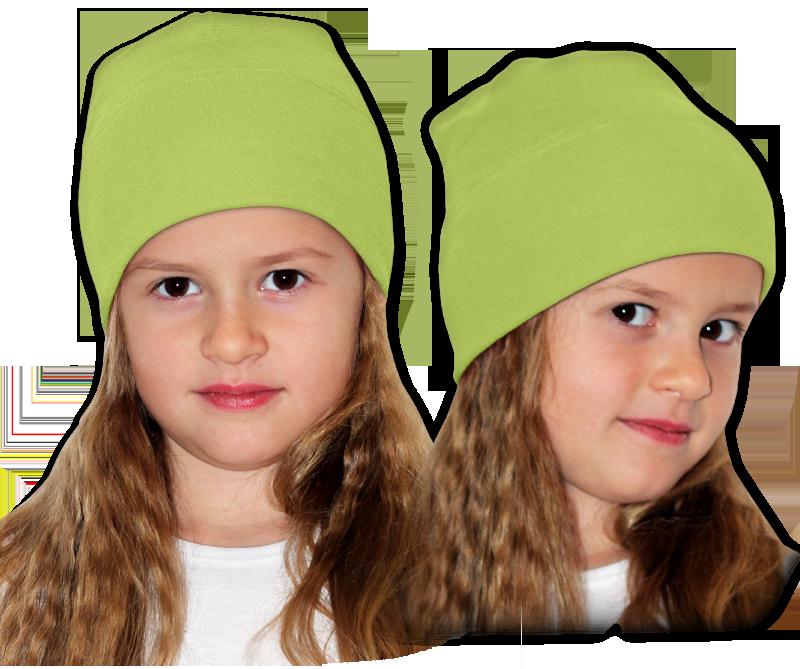 Čepice zelená hrášková