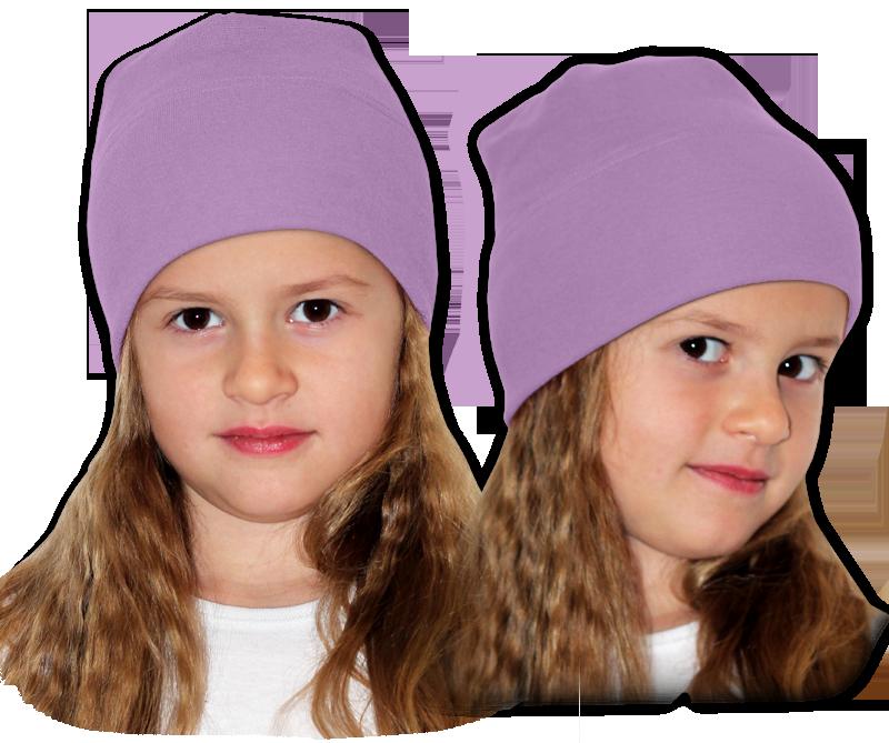 Čepice fialová šeříková
