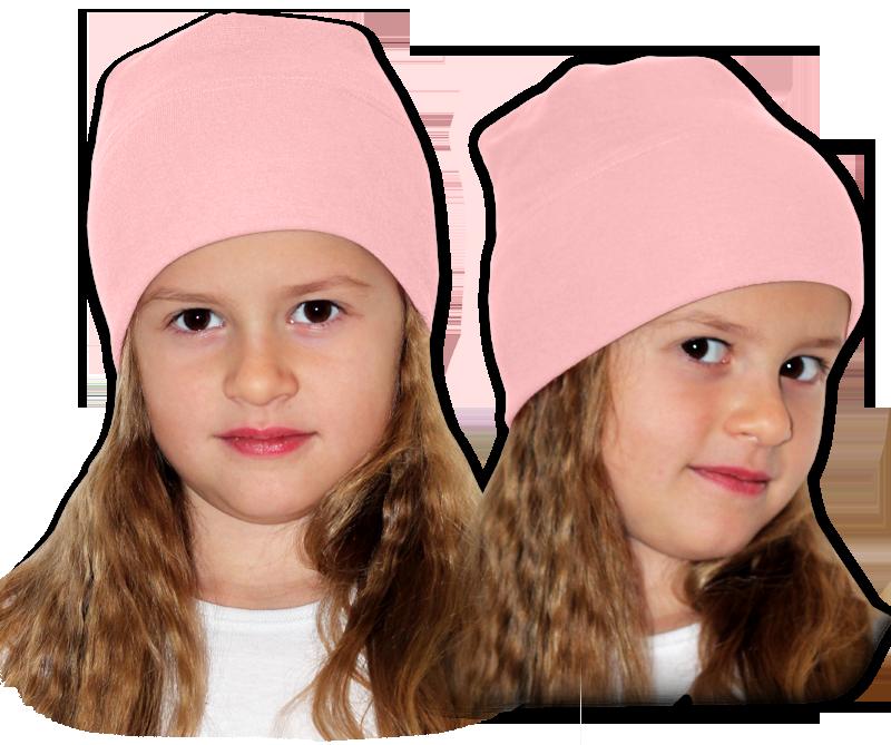 Čepice růžová světlá