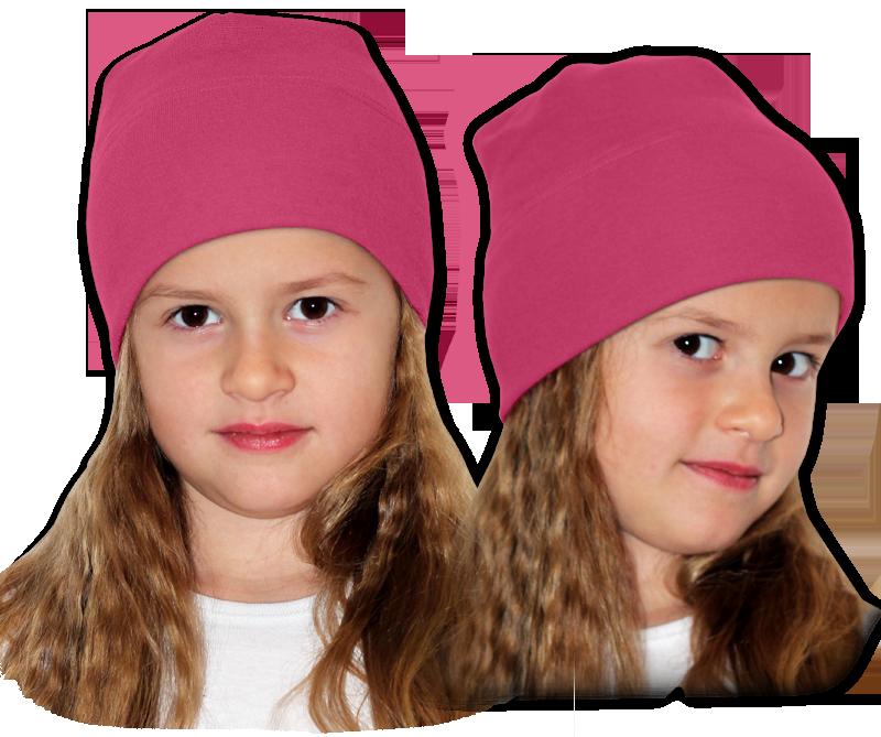 Čepice růžová tmavá